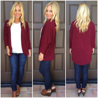 Out Of The Woods Cardigan - WINE