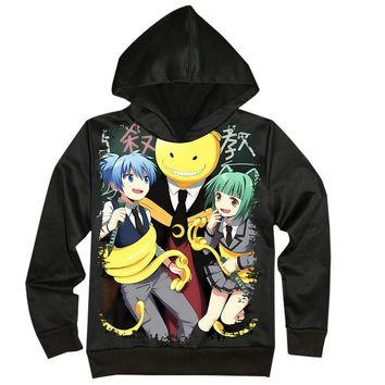 Assassination Classroom Print Hoodie Sweatshirt Jacket