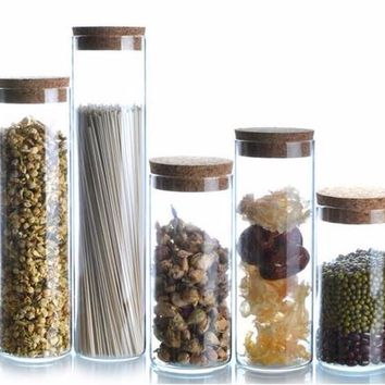 Glass Canisters with Cork Lid