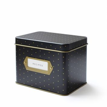 Recipe Box-Polka Dot Tin