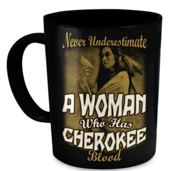 Cherokee Blood Black Mug cherokee-mug