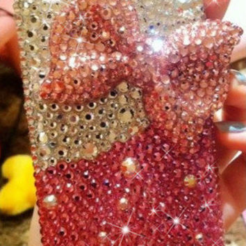 iphone 5s case, bow iphone 5 case, jewel iphone case ,unique iphone case iphone 5c case crystal iphone5 case ,bling iphone cases,iphone 5c