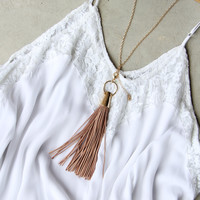 Farrah Tassel Necklace