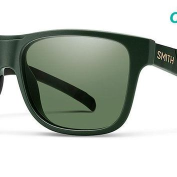 Smith - Lowdown XL Matte Olive Camo Sunglasses / ChromaPop Polarized Gray Green Lenses