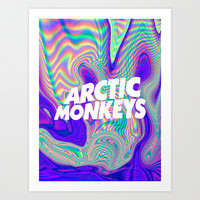 Psychedelic Arctic Monkeys Logo Art Print by julia