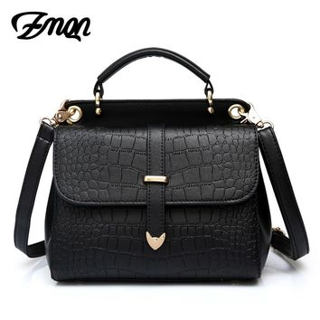 ZMQN Crossbody Bags For Women Designer Small PU Leather Black Crossbody Bag Travel Stone Pattern Side Cross Body Women Bags A516