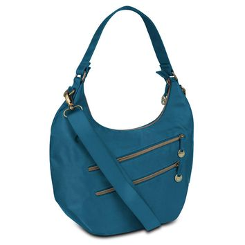 Travelon Hack-Proof Convertible Hobo with RFID Protection - Ocean