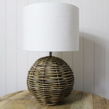 Round Rattan Lamp And Shade