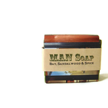 Man Soap Masculine Mancentric for dad brother by SoapForYourSoul