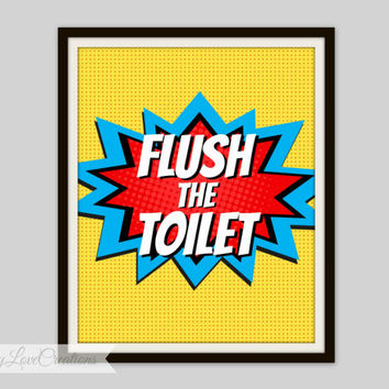 Shop Superhero Bathroom On Wanelo