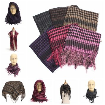 Lightweight Military Tactical Keffiyeh Shemagh Desert Arab Scarf Shawl Neck Cover Head Wrap Hiking Paintbal Shooting Scarf
