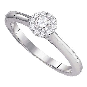10kt White Gold Women's Round Diamond Solitaire Bridal Wedding Engagement Ring 1/4 Cttw - FREE Shipping (USA/CAN)