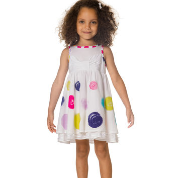Deux Par Deux Fizzy Pop Dress with Flounces