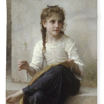Sewing By Adolphe-William Bouguereau - Blanket