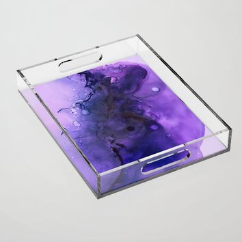 Sahasrara (crown chakra) Acrylic Tray by duckyb