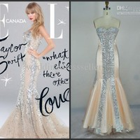 Wholesale Swift fashion sexy sweetheart sequins mermiad celebrity dress cd005, Free shipping, $194.88-201.6/Piece   DHgate