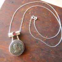 Ancient Coin Pendant, Roman Coin Necklace, Roman Coins, Ancient Coins, Ancient Pendant, Roman Antiques, Roman Designs, Roman Artifact