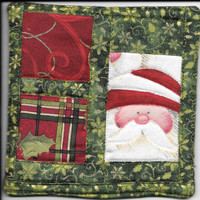 Santa Coasters Quilted Set of 4