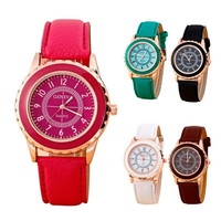 Fashion Womens Retro Lady WATCH  Faux Leather Band Strap Analog Quartz Wrist Watch = 1956749956