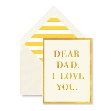 Dear Dad, I Love You Greeting Card, Single Folded Card or Boxed Set of 8