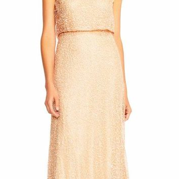 Adrianna Papell - AP1E201759 Sleeveless Popover Sequined Gown