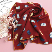 Feather Print Bandana -SheIn(Sheinside)