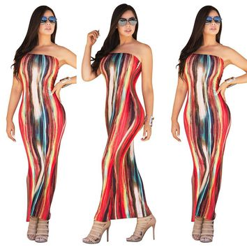 Prom Dress Club Sexy Print Wrap One Piece Dress [18172608538]