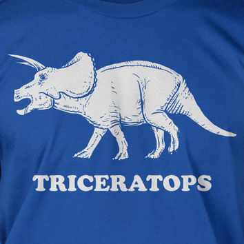 Triceratops Funny Dinosaur Screen Printed T-Shirt Tee Shirt T Shirt Mens Ladies Womens Youth Kids Funny Geek Science