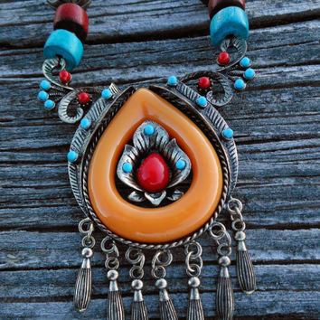 Tibetan amber resin traditional necklace replica SPRING SALE