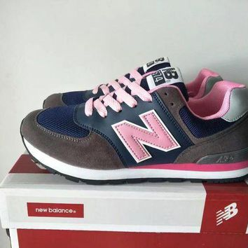 QIYIF new balance 574 women sport casual multicolor n words sneakers running shoes  2