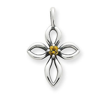 Avery Remembrance Cross with Citrine