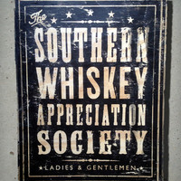 Whiskey Appreciation Society Wood Sign