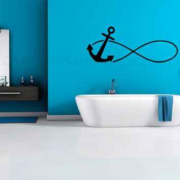 Anchor Infinity Wall Decal Wall Sticker From ValdonImages On