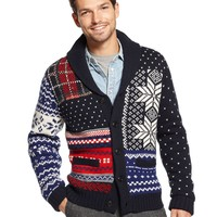 Tommy Hilfiger Sweater, Pelham Fair Isle Shawl Collar Sweater