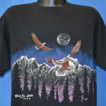 90s Blue Mesa Lake Colorado Mountains t-shirt Extra Large
