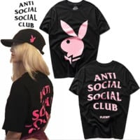 Anti Social Social Club Round Neck Short Sleeve T-Shirt