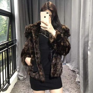 2018 New Arrival Women Winter Thick Fur Coat Full Pelt Real Mink Fur Jacket High Quality Mink Coat Stand Collar Outfit 060