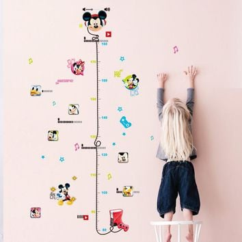 Removable Kid Height Chart Mickey Mouse Measure Room Wall Sticker Home Decal Decor Care Growth Art