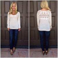 On The Vine Thin Knit Top - CREAM
