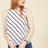Edgy Assuredness Sleeveless Top