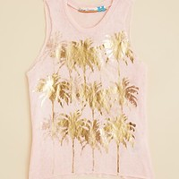 Vintage Havana Girls' Foil Palm Tree Tank - Sizes S-XL
