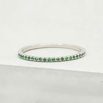 Eternity Ring - Silver + Emerald