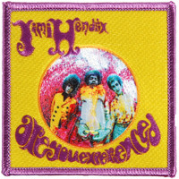Jimi Hendrix Men's Embroidered Patch Yellow