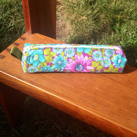 Hand Made Quilted Makeup/ Pencil Pouch. (Small)