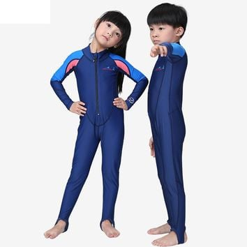 Kids Wetsuits Children's Wetsuit For Boys Girls Swimming Diving Rash guard surfing