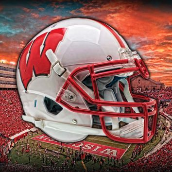 Wisconsin Badgers Head Gear 24x18 Football Poster