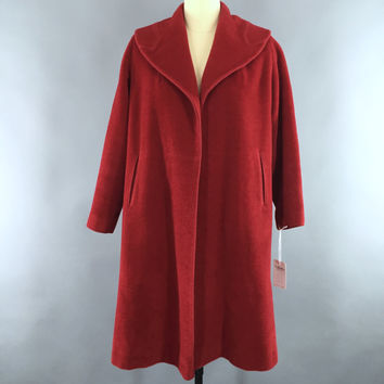 Vintage 1950s New Look Swing Coat / Red Charmosa Wool – ThisBlueBird - Modern Vintage