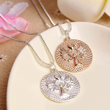 Trendy Charming Fashion Jewelry Guardian Angel Necklace Love Letters Necklace Friends Gifts