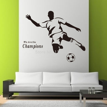 Soccer Wall Sticker Sports Decoration Mural for Kids Room
