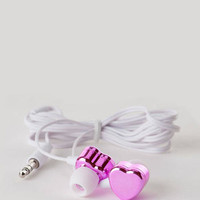 METALLIC HEART EARBUDS